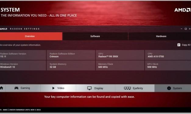 AMD RADEON Software Crimson 16.1.1 Hotfix disponible