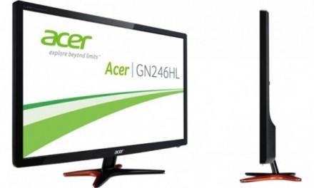 Acer se suma al mercado gaming con su monitor GN246HL