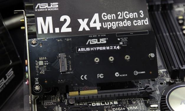 Asus anuncia su nuevo adaptado M.2 X4
