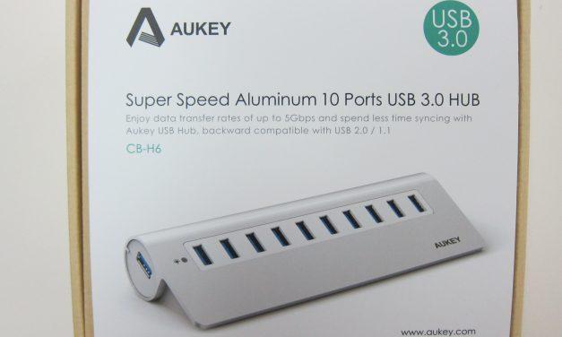 Aukey USB-3.0 10-Port Hub review