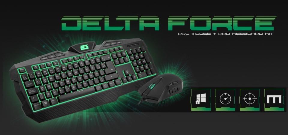 BG Delta Force, ratón y teclado gaming por 25€