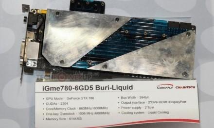 Colorful anuncia GTX 780 con sistema de refrigeración líquida