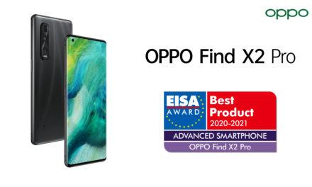 OPPO Find X2 Pro gana el premio EISA al «Mejor Producto 2020-2021 – En la categoría de smartphone avanzado»