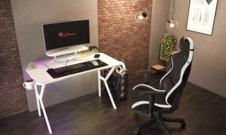 Genesis presenta en España su nuevo escritorio gaming: Genesis HOLM 320 RGB blanco