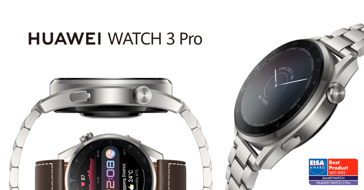 Huawei gana el premio «Mejor Smartwatch 2021-2022» de EISA con HUAWEI WATCH 3 Pro
