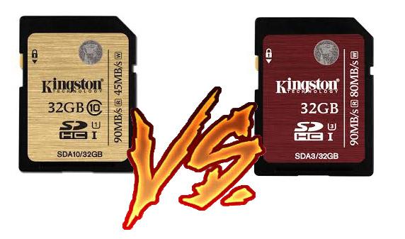 Comparativa Kingston SDA10/32GB y Kingston SDA3/32GB