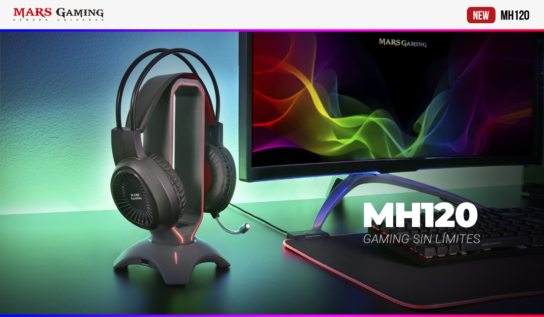 AURICULARES Mars GAMING MH120 Y MH220