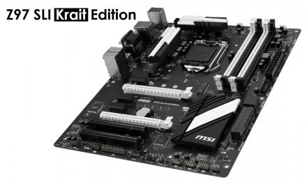 MSI anuncia su nueva placa base Z97 SLI Krait en color negro y blanco