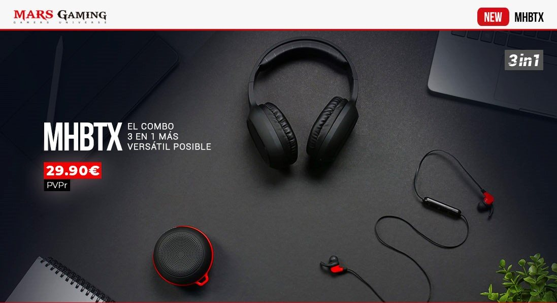 Nuevo combo de audio 3 en 1 MHBTX