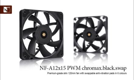 Noctua NF-A12x15 PWM chromax.black.swap review
