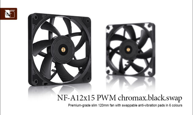 Noctua NF-A12x15 PWM chromax.black.swap review