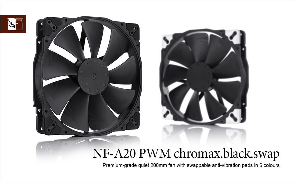 Noctua NF-A20 PWM Chromax.Black.Swap Review