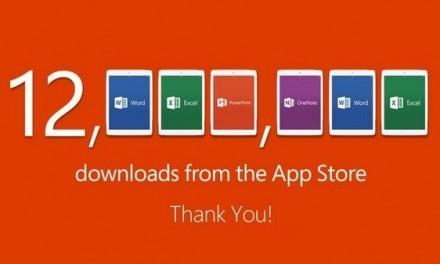 Office para iPad: 12 millones de descargas en una semana.