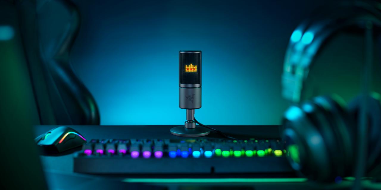 Transforma tus streams con el nuevo micrófono Razer Seiren Emote