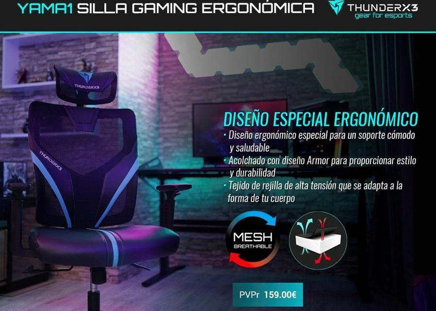 Nueva silla gaming ergonómica YAMA1