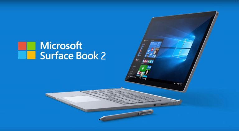 Microsoft se renueva, Surface Book 2