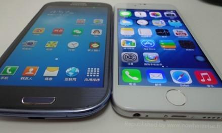 Imitación calcada de un iPhone 6 en un smartphone chino