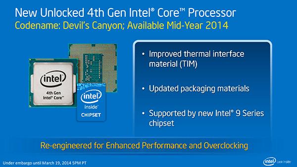 Intel Devil's Canyon y Pentium K serán lanzados el día 2 de Junio