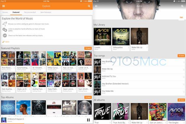 Encuentran a Google Play Music para iPad escondido en la versión de iPhone