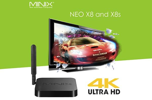 MINIX presenta los nuevos NEO X8 y X8s con soporte 4K