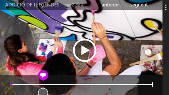 Microsoft lleva a Windows Phone 8.1 su aplicación de edición de vídeo 'Momentos especiales'